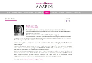 Judge CSE Canadian event industry Awards