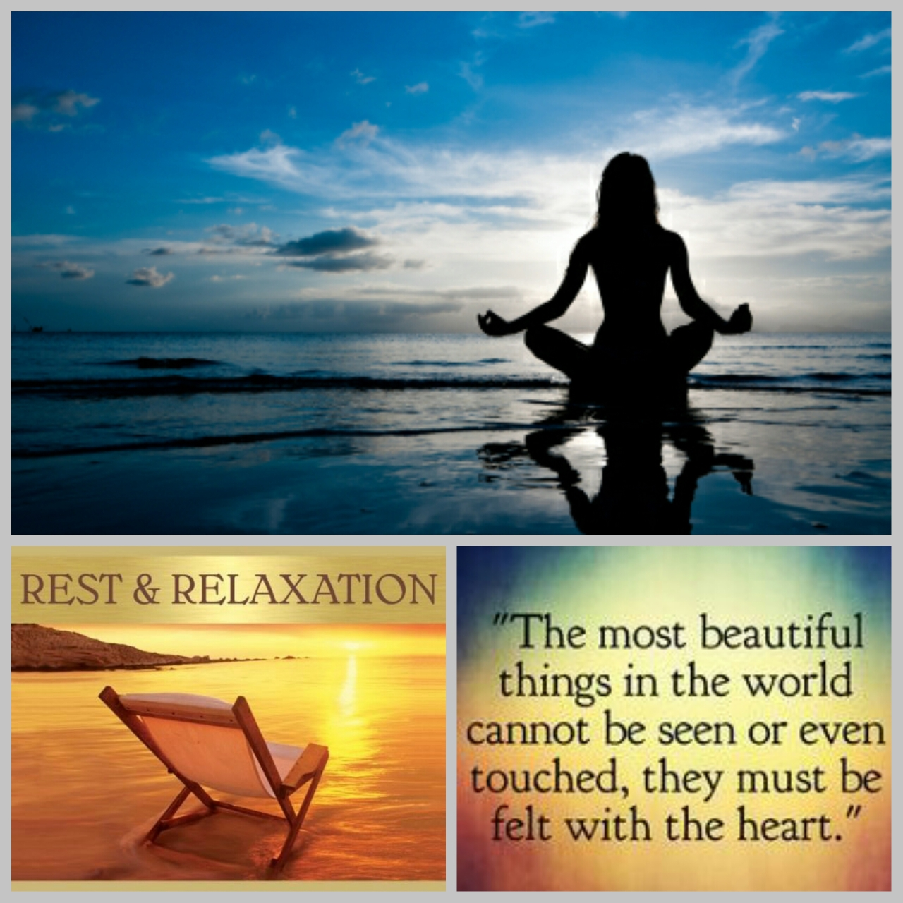 Rest – Relaxation  &  Reflective – Rousing